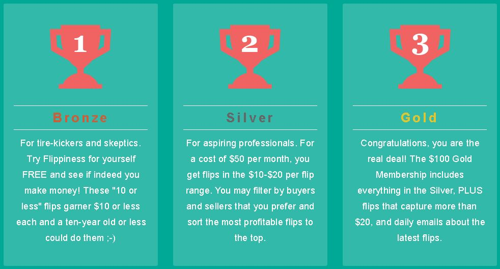 Flippiness has a tiered structure for its members; free, paid, and premium. I tried the FREE plan and made ten bucks in about five minutes.