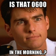 Tom Cruise knows what time it is.